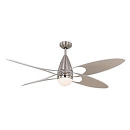 Monte Carlo Butterfly 54-Inch Ceiling Fan in Brushed Steel