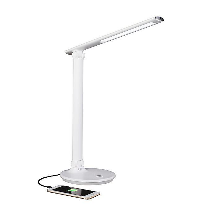 Alternate image 1 for OttLite® Emerge LED Desk Lamp with USB Port in White