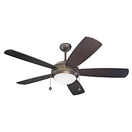 Monte Carlo Discus II 52-Inch One Light Ceiling Fan