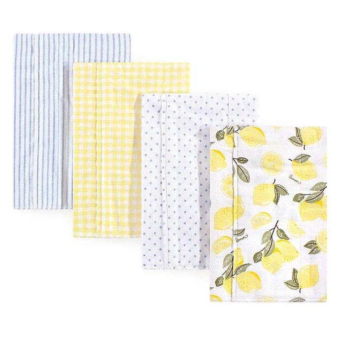 Alternate image 1 for Hudson Baby® 4-Pack Flannel Burp Cloths