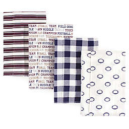 Hudson Baby® 4-Pack Football Flannel Burp Cloths