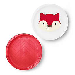 SKIP*HOP® Fox Zoo Smart Non-Slip Plates in Red (Set of 2)