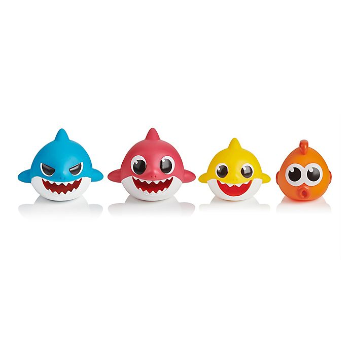 Alternate image 1 for WowWee Pinkfong 4-Piece Baby Shark Bath Squirt Toys