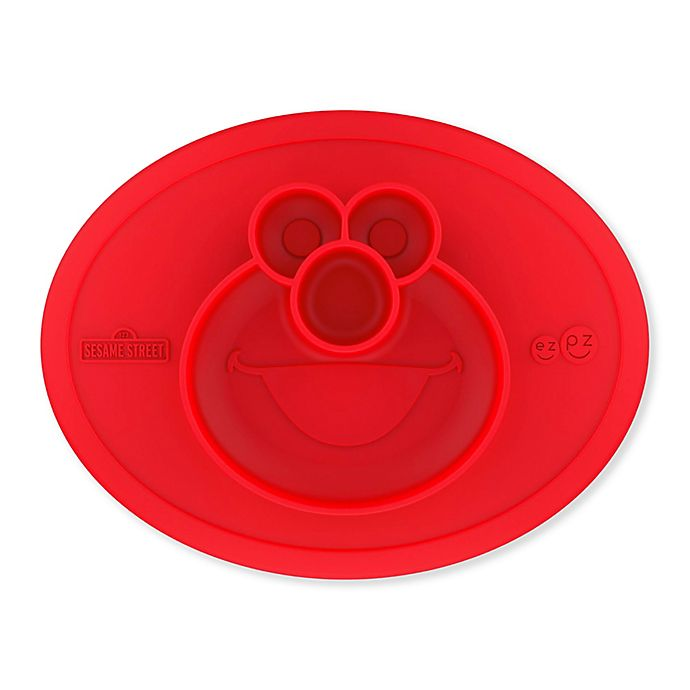 Alternate image 1 for ezpz Sesame Street® Elmo Bowl Placemat in Red