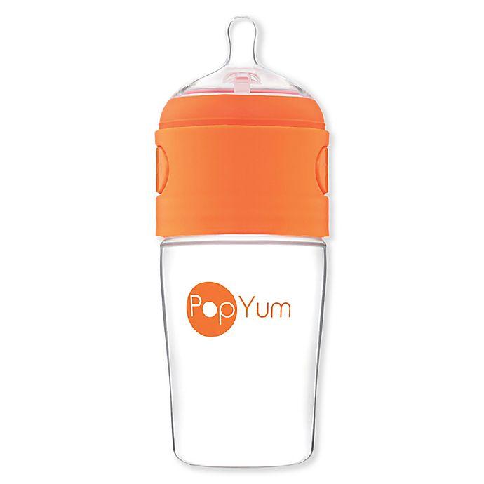 Alternate image 1 for PopYum 9 oz. Anti-Colic Formula Making Bottle in Orange