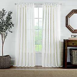 Cambria® Fontaine Tie Top Window Curtain Panel (Single)