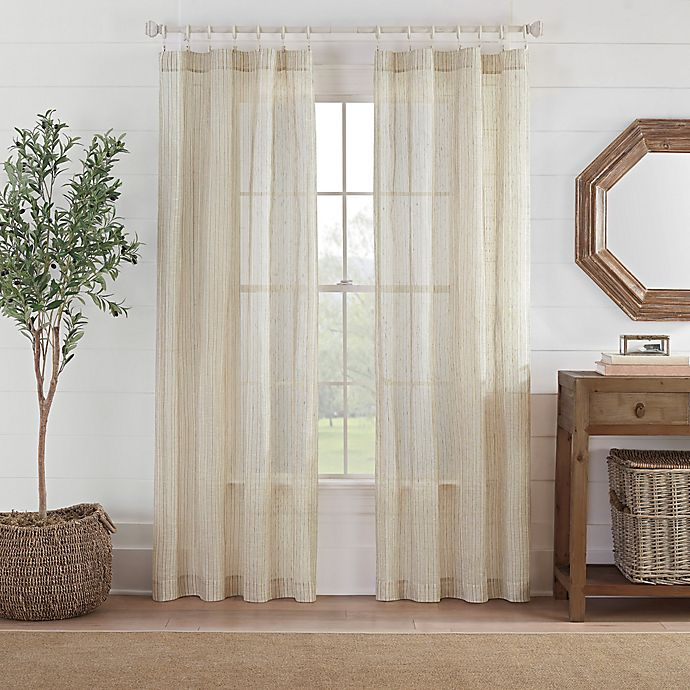 Alternate image 1 for Fontaine Stripe Rod Pocket Sheer Window Curtain Panel