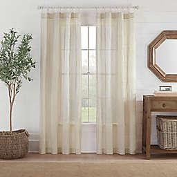 Fontaine Stripe Rod Pocket Sheer Window Curtain Panel (Single)