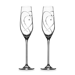 Royal Doulton Two Hearts Entwined Toasting Flutes (Set of 2)