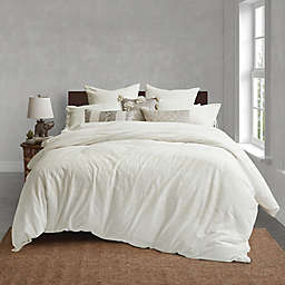 Global Caravan™ Cross Stitched Mirror Twin Duvet Cover in White