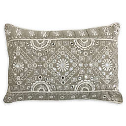 Global Caravan™ Mirror Medallion Oblong Throw Pillow in Natural