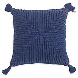 Global Caravan™ Suzani Corded Diamond Square Throw Pillow in Navy