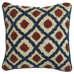 Global Caravan™ Suzani Beaded Diamond Trellis Square Throw Pillow