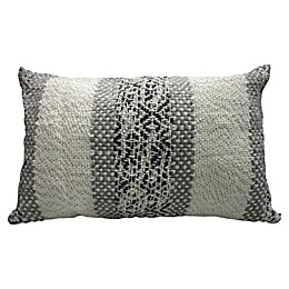 Global Caravan™ Metallic Stripe Oblong Throw Pillow in White/Grey