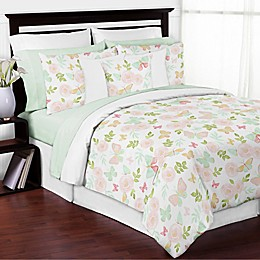 Sweet Jojo Designs® Butterfly Floral Comforter Set in Pink/Yellow
