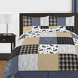 Sweet Jojo Designs® Rustic Patch Full/Queen Bedding Set in Brown/Blue