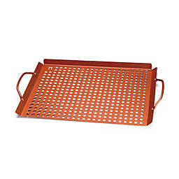 Large Non-Stick Grill Grid with Handles in Copper