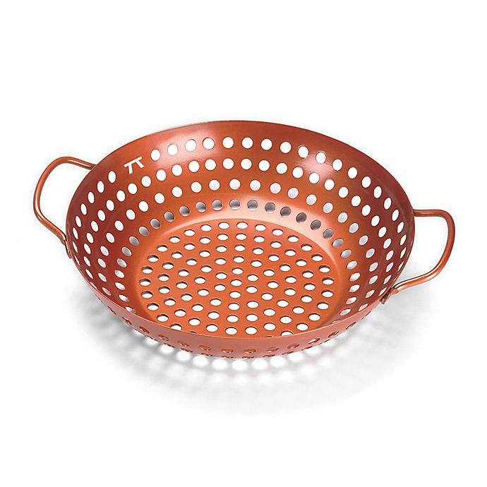 Alternate image 1 for Round Non-Stick Grill Wok in Copper