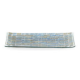 Storm Guest Towel Tray in Blue/Champagne