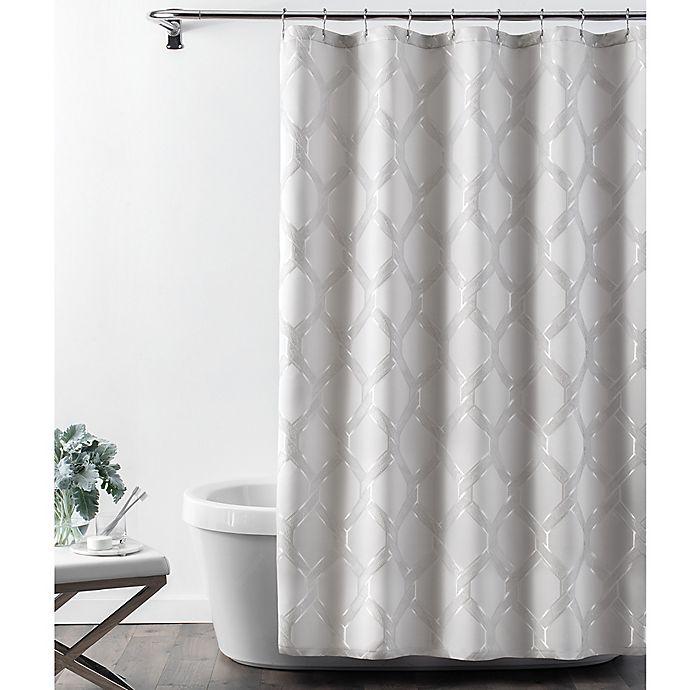 Alternate image 1 for Croscill® Gwynn Shower Curtain in Silver