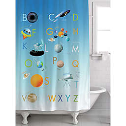 Alphabet Space Shower Curtain