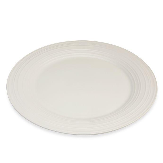 Alternate image 1 for Mikasa® Swirl 14-Inch Round Platter in White