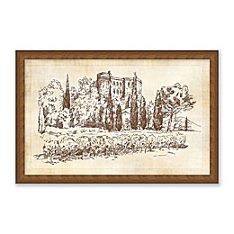 One Kings Lane Open House™ Landscape Sketch I 17.5-Inch x 11.5-Inch Framed Wall Art