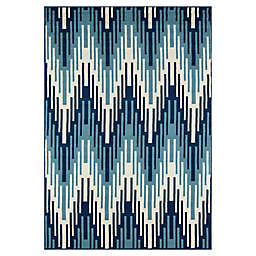 Momeni® Baja 7'10 x 10'10 Indoor/Outdoor Area Rug in Blue