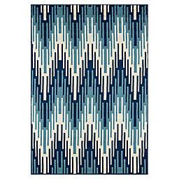 Momeni® Baja 8'6 x 13' Indoor/Outdoor Area Rug in Blue
