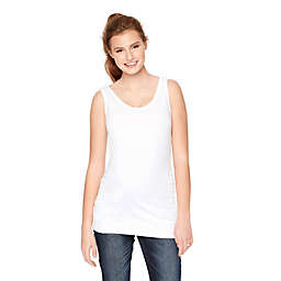 Motherhood Maternity® Medium Side Ruched Maternity Tank Top in White
