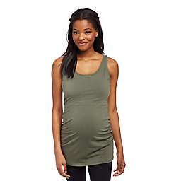 Motherhood Maternity® Medium Side Ruched Maternity Tank Top in Beetle