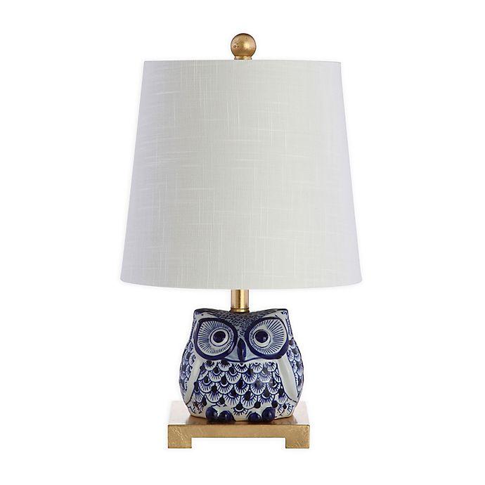 Jonathan Y Sophocles Mini Ceramic Owl, Owl Table Lamp