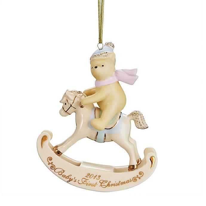 2013 disneys winnie the pooh babys 1st christmas ornament by lenox