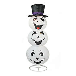 Northlight 44-Inch Lighted Ghost with Hat Halloween Decoration