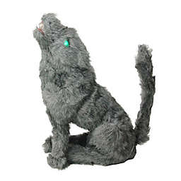 Northlight 22-Inch Wolf with Lighted Eyes Halloween Decoration in Black