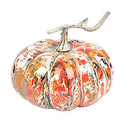 Gallerie II Large Marbelized Pumpkin in Orange
