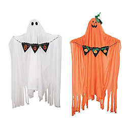 Gallerie II Sound & Motion Boo Ghost Halloween Figurines (Set of 2)