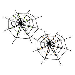 Gallerie II Gigantic Spider & Web Halloween Ornaments (Set of 2)