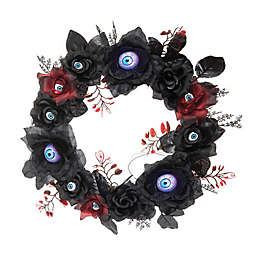 Gallerie II LED Gothic Eyeball Halloween Wreath