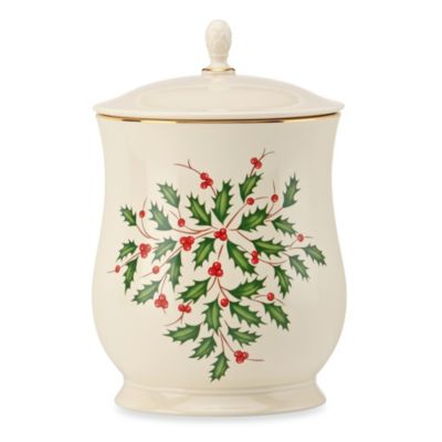 Lenox 174 Holiday Cookie Jar With Lid Bed Bath Amp Beyond