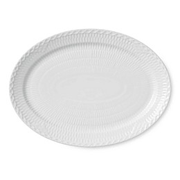 Royal Copenhagen Fluted Half Lace 11-Inch Oval Platter in White