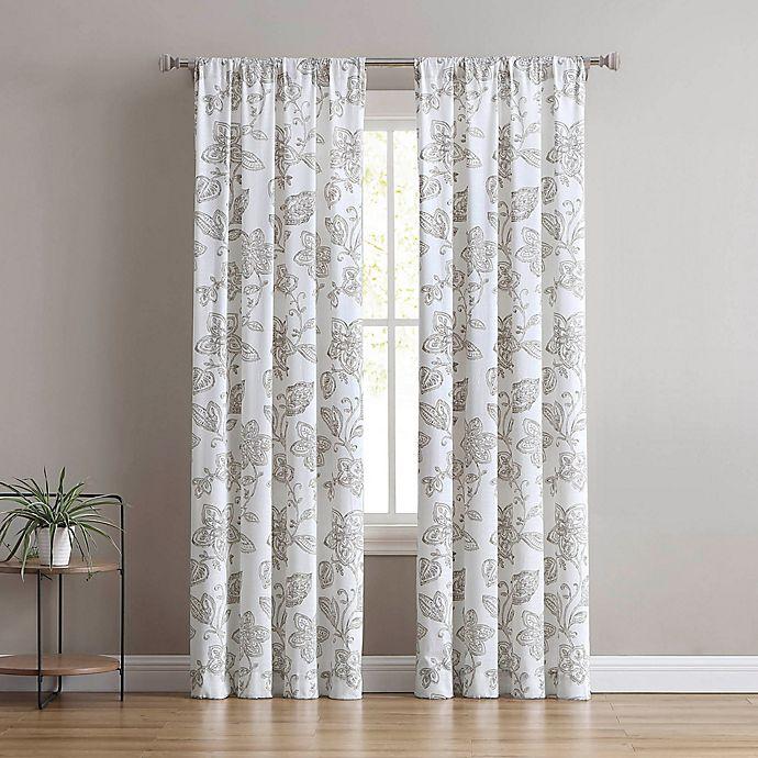 Alternate image 1 for Calera 2-Pack Rod Pocket Window Curtain Panels