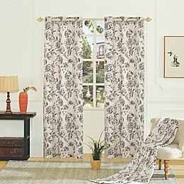 Fiona Grommet Light Filtering Window Curtain Panel Pair
