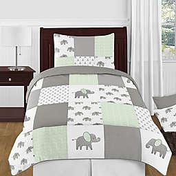 Sweet Jojo Designs® Elephant Patch Bedding Set