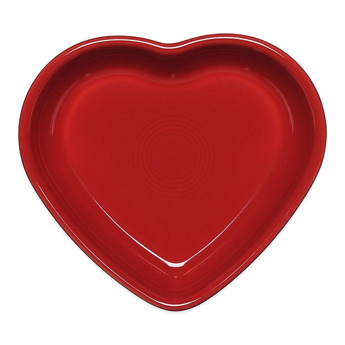 Alternate image 1 for Fiesta® Medium Heart Bowl in Scarlet