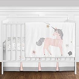 Sweet Jojo Designs® Unicorn 4-Piece Reversible Crib Bedding Set in Pink/Gold