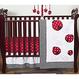 Sweet Jojo Designs® Polka Dot Ladybug 4-Piece Crib Bedding Set in Red/Black/White
