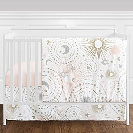 Sweet Jojo Designs® Celestial 4-Piece Crib Bedding Set in Blush/Gold