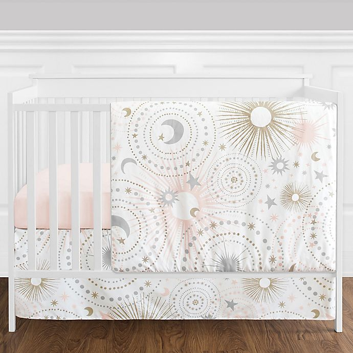 Alternate image 1 for Sweet Jojo Designs® Celestial 4-Piece Crib Bedding Set in Blush/Gold