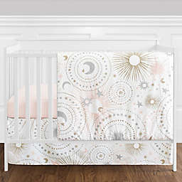 Sweet Jojo Designs® Celestial 4-Piece Crib Bedding Set in Blush/Gold
